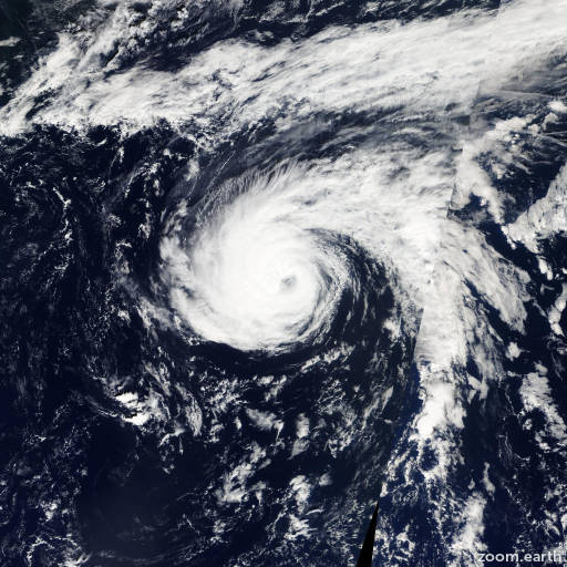 Satellite image of Hurricane Nadine 2012