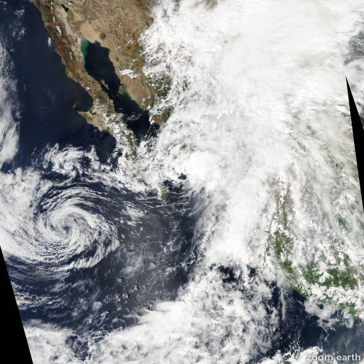Satellite image of Storm Norman 2012