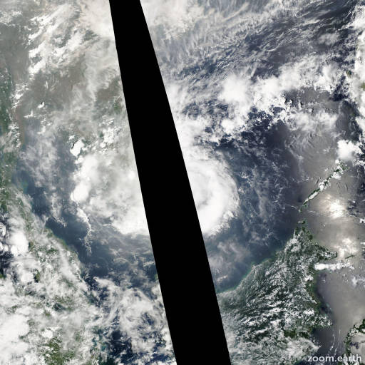 Satellite image of Storm Pakhar 2012