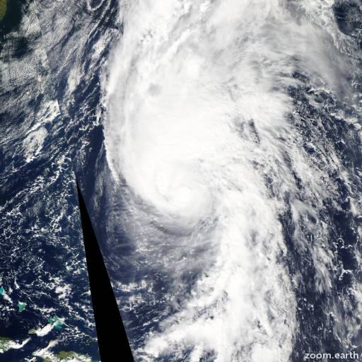 Satellite image of Hurricane Rafael 2012