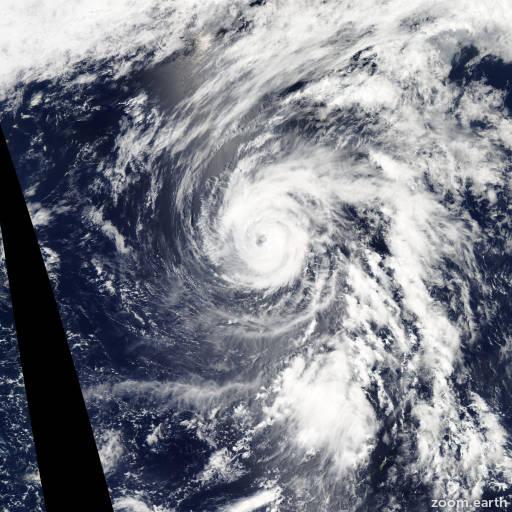 Satellite image of Typhoon Sanvu 2012