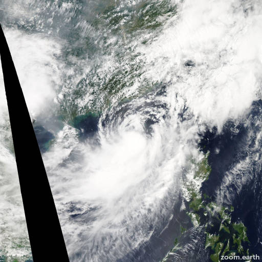 Satellite image of Storm Talim 2012