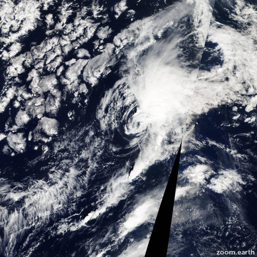 Satellite image of Storm Tony 2012