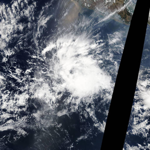 Satellite image of Storm Alvin 2013