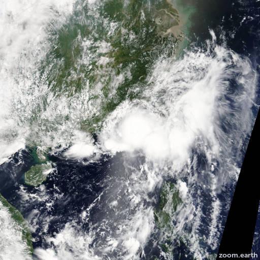 Satellite image of Storm Cimaron 2013