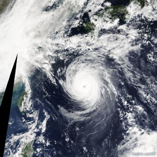 Satellite image of Typhoon Danas 2013