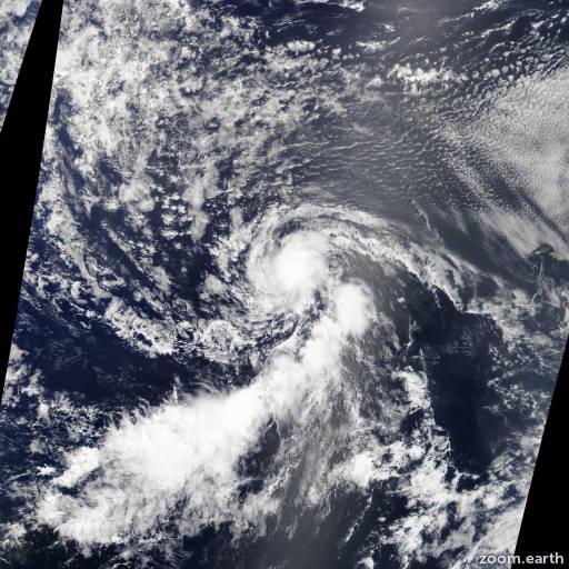 Satellite image of Storm Dorian 2013