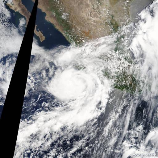 Satellite image of Hurricane Erick 2013
