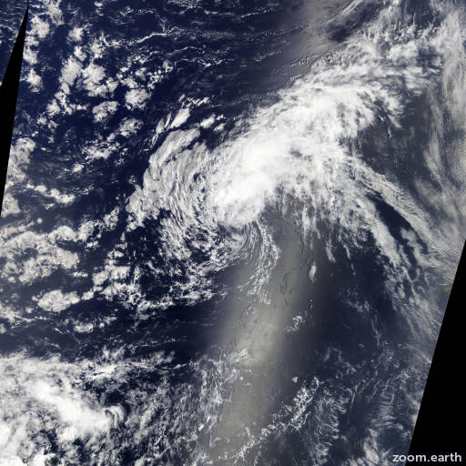 Satellite image of Storm Erin 2013
