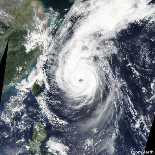 Satellite image of Typhoon Fitow 2013