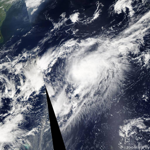 Satellite image of Storm Gabrielle 2013