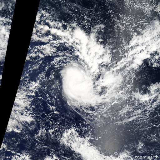Satellite image of Cyclone Garry 2013