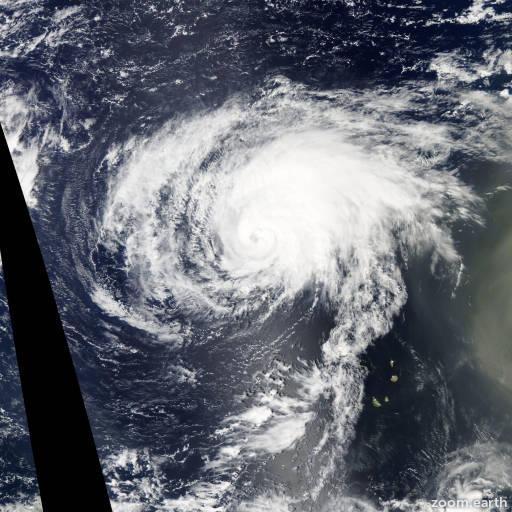 Satellite image of Hurricane Humberto 2013