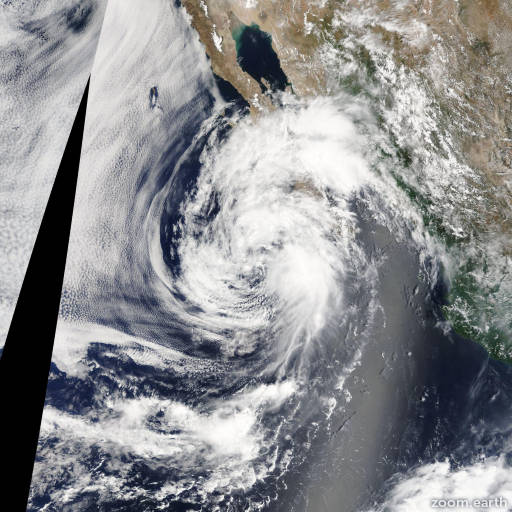 Satellite image of Storm Ivo 2013