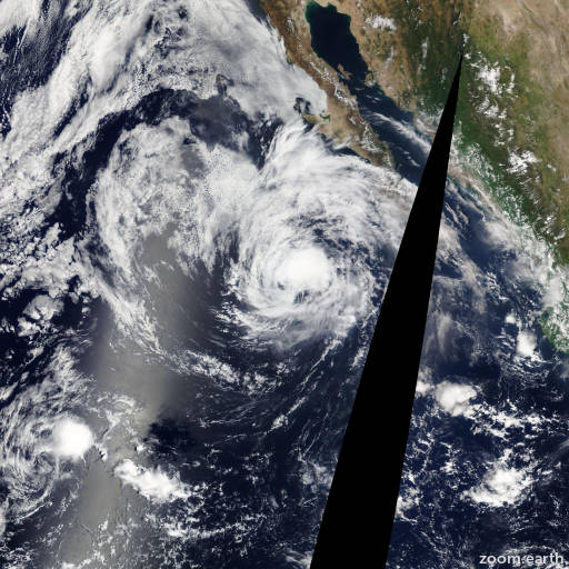 Satellite image of Hurricane Kiko 2013