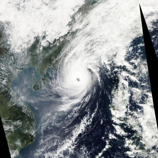 Satellite image of Typhoon Krosa 2013