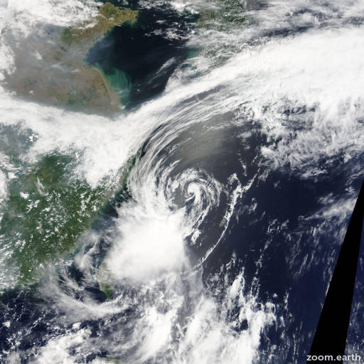 Satellite image of Storm Leepi 2013