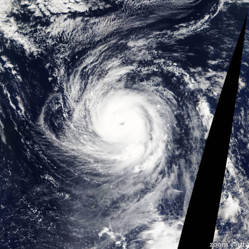 Satellite image of Typhoon Lekima 2013