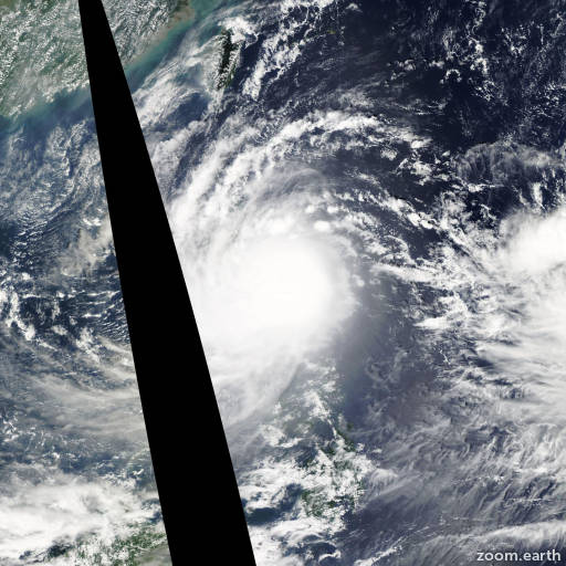 Satellite image of Typhoon Nari 2013