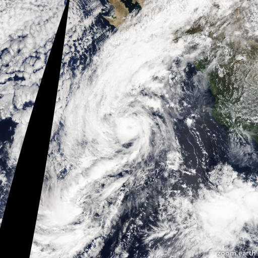 Satellite image of Storm Octave 2013
