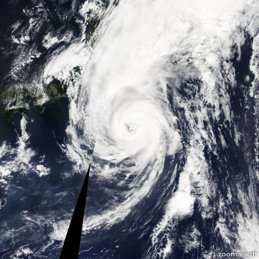 Satellite image of Typhoon Pabuk 2013