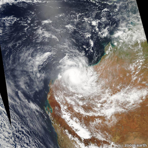 Satellite image of Cyclone Peta 2013