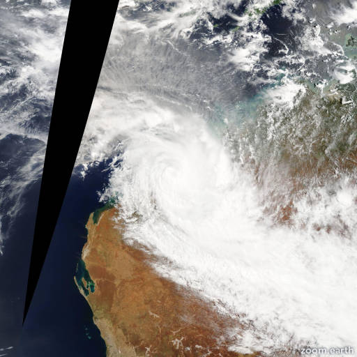 Satellite image of Cyclone Rusty 2013