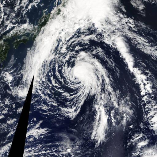 Satellite image of Storm Sepat 2013