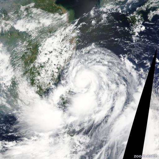 Satellite image of Typhoon Trami 2013