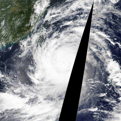 Satellite image of Typhoon Usagi 2013