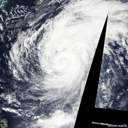 Satellite image of Typhoon Wipha 2013