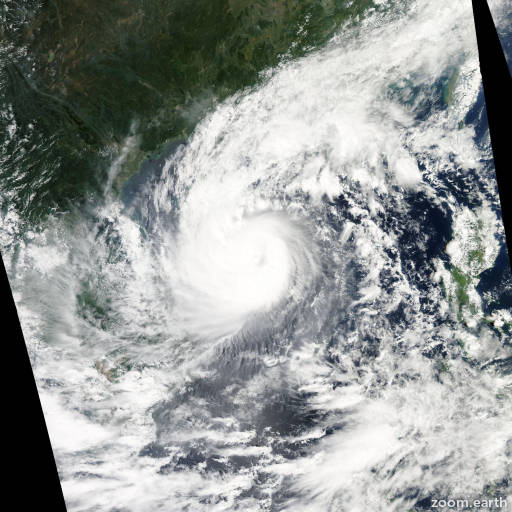 Satellite image of Typhoon Wutip 2013