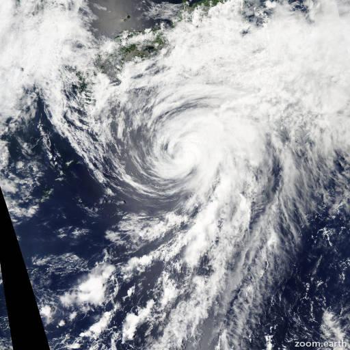 Satellite image of Storm Yagi 2013