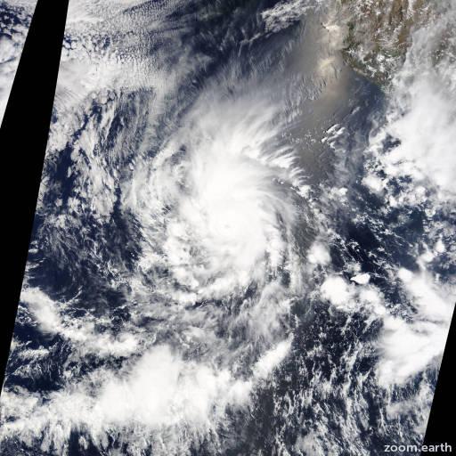 Satellite image of Hurricane Amanda 2014