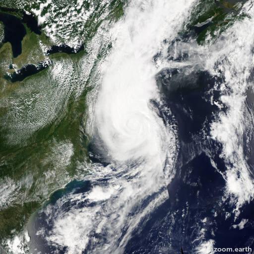 Satellite image of Hurricane Arthur 2014
