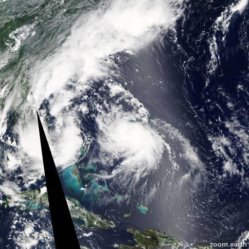 Satellite image of Hurricane Bertha 2014