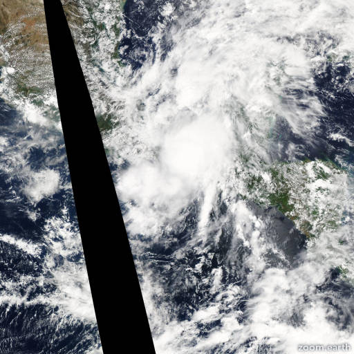 Satellite image of Storm Boris 2014