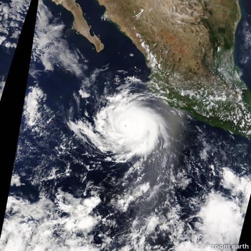 Satellite image of Hurricane Cristina 2014