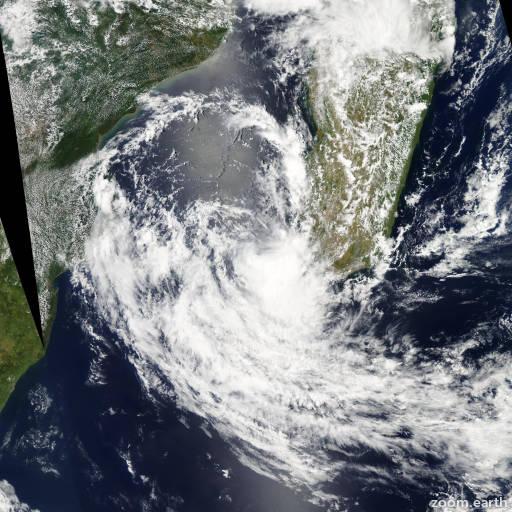 Satellite image of Storm Deliwe 2014
