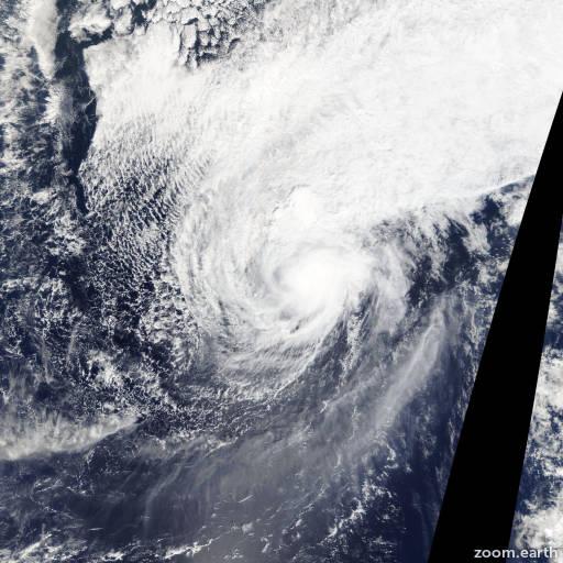 Satellite image of Typhoon Faxai 2014