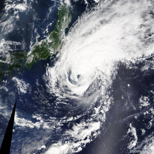 Satellite image of Storm Fengshen 2014