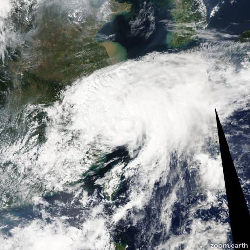 Satellite image of Storm Fung-Wong 2014