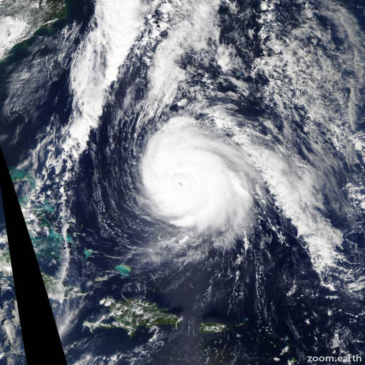 Satellite image of Hurricane Gonzalo 2014
