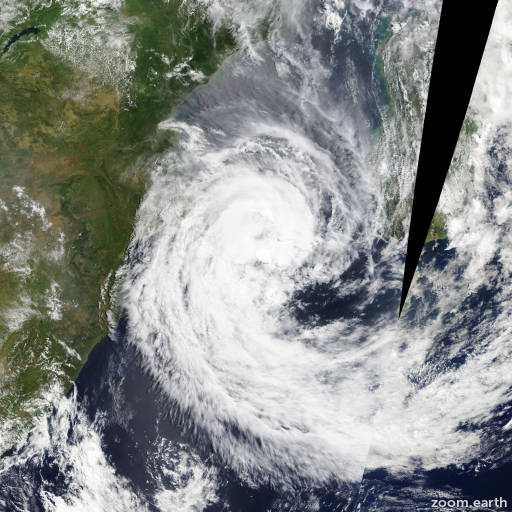 Satellite image of Storm Guito 2014
