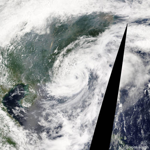 Satellite image of Storm Hagibis 2014