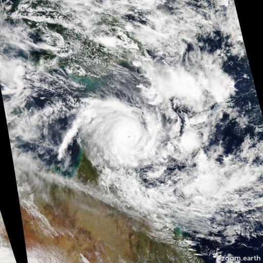 Satellite image of Cyclone Ita 2014