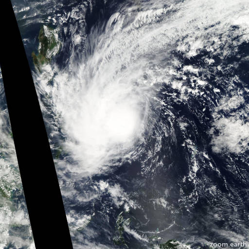 Satellite image of Storm Kajiki 2014
