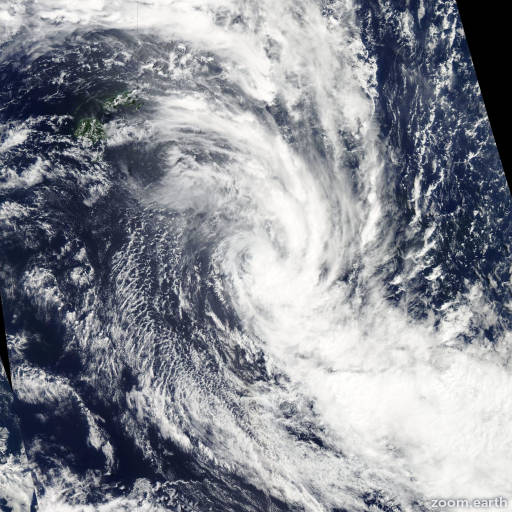 Satellite image of Cyclone Kofi 2014