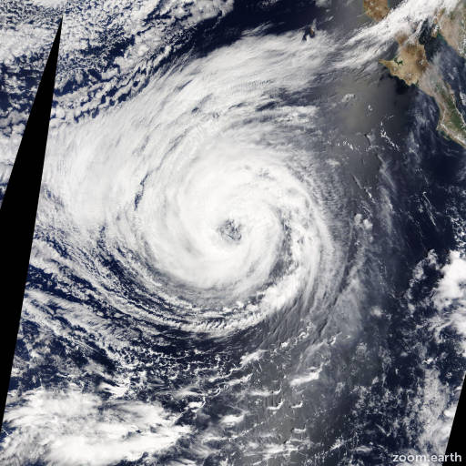 Satellite image of Hurricane Lowell 2014