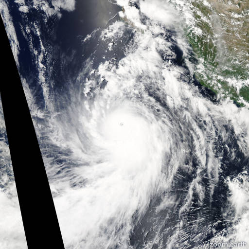Satellite image of Hurricane Marie 2014
